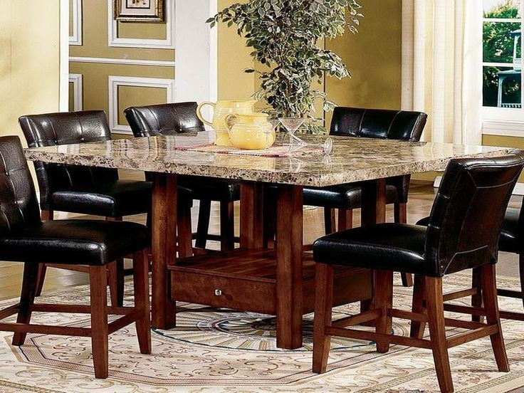 Best ideas about Granite Dining Table . Save or Pin Modern Dining Room Sets Granite Top Dining Table Storage Now.