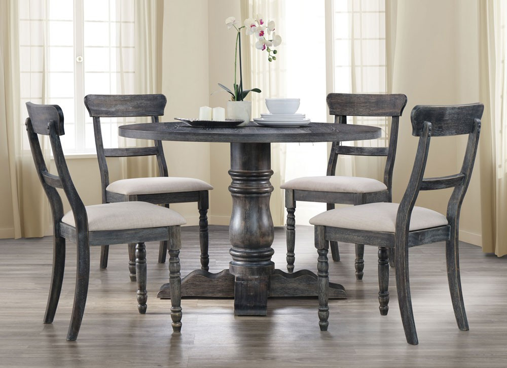 Best ideas about Gray Dining Table . Save or Pin Letis Weathered Grey Round Dining Table Now.