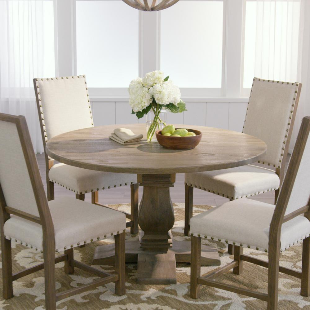 Best ideas about Gray Dining Table . Save or Pin Home Decorators Collection Aldridge Antique Grey Round Now.