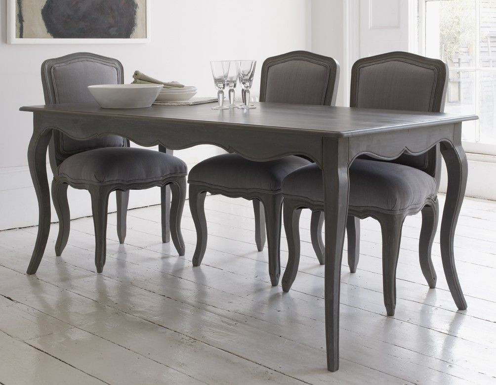 Best ideas about Gray Dining Table . Save or Pin Elegant dining table with curved legs and attractive Now.