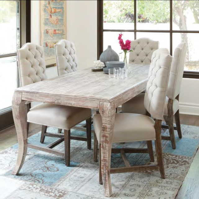 Best ideas about Gray Dining Table . Save or Pin Grey Finish Dining Room Table Rustic Dining Room Now.