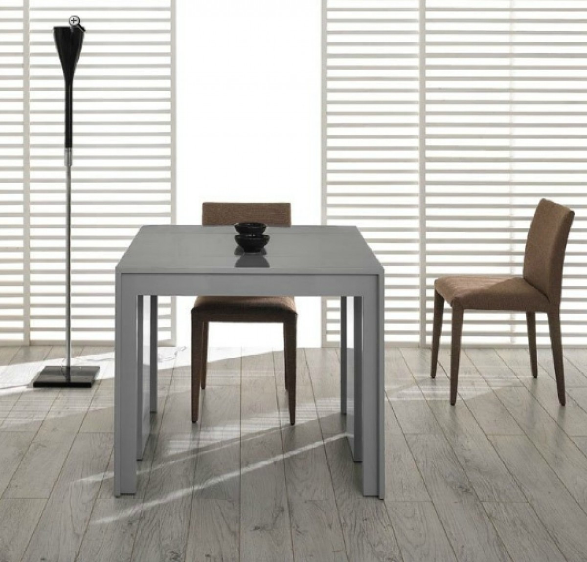 Best ideas about Gray Dining Table . Save or Pin Modrest Morph Modern Ultra pact Extendable Grey Gloss Now.