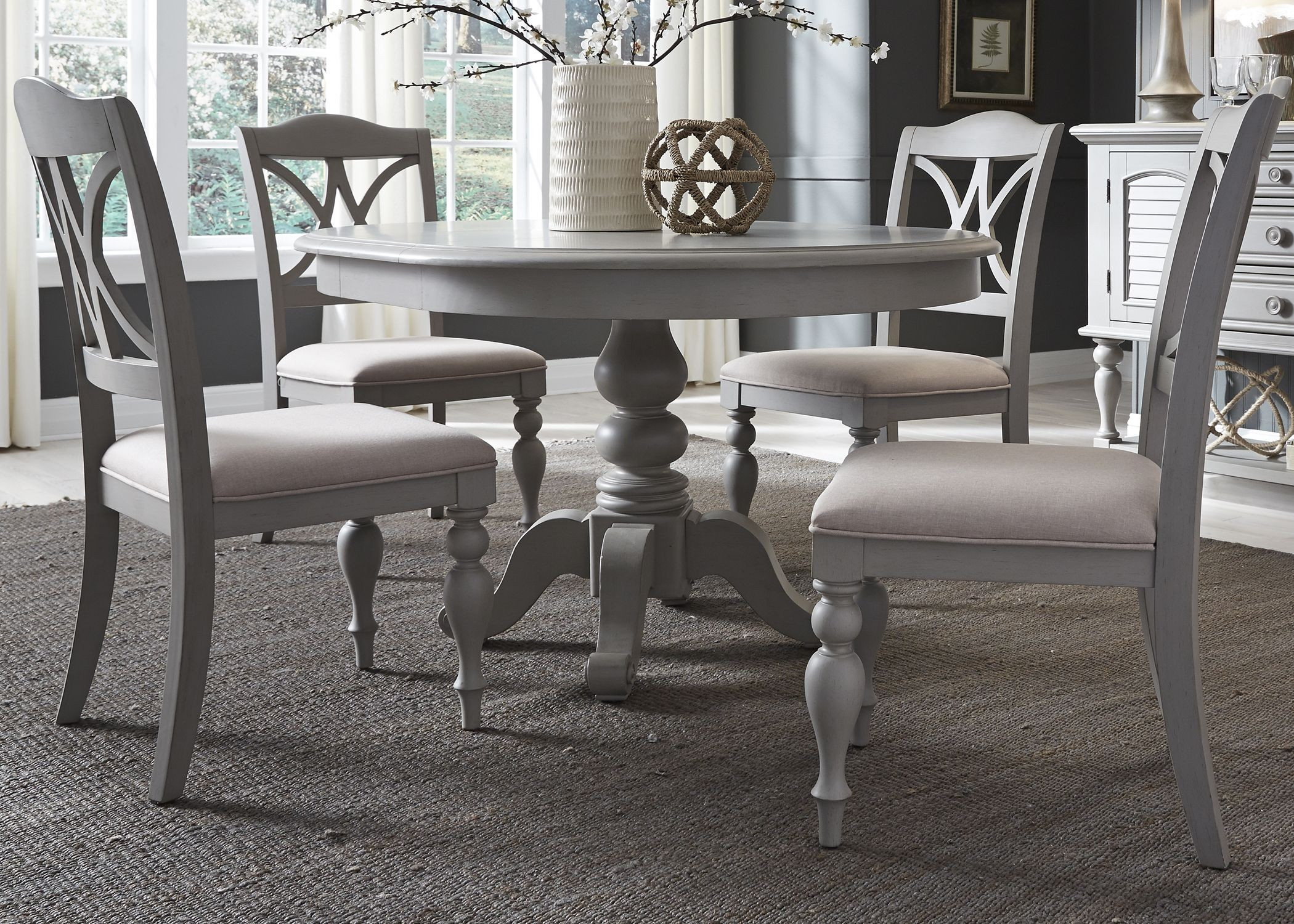 Best ideas about Gray Dining Table . Save or Pin Summer House Dove Grey Round Dining Room Set from Liberty Now.