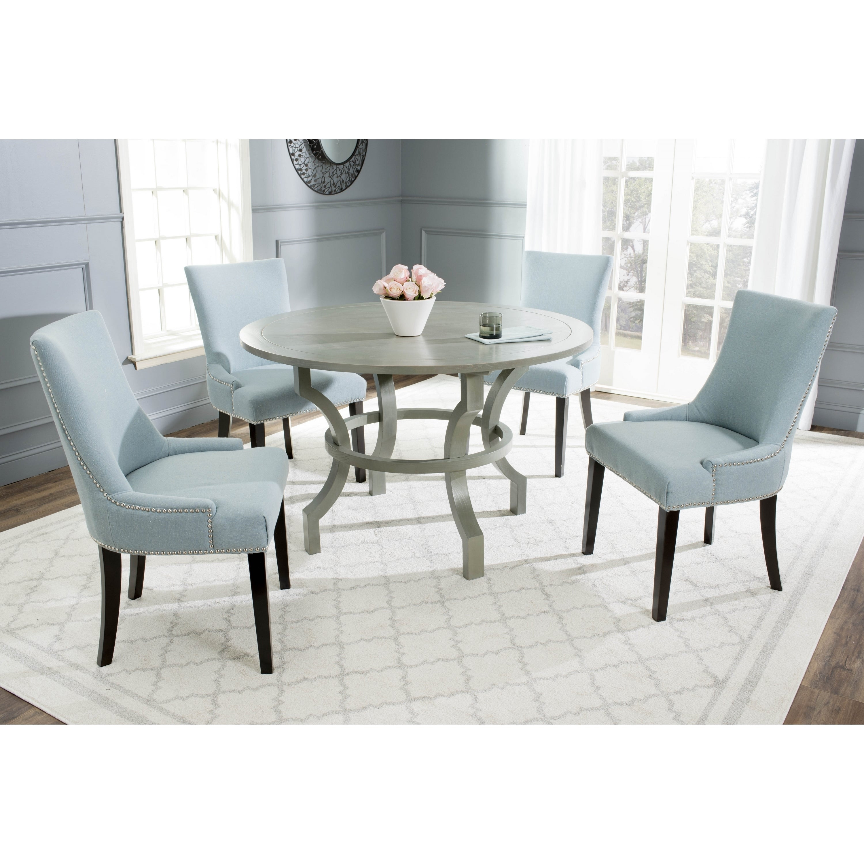 Best ideas about Gray Dining Table . Save or Pin Safavieh Ludlow Ash Grey Round Dining Table Furniture Bar Now.
