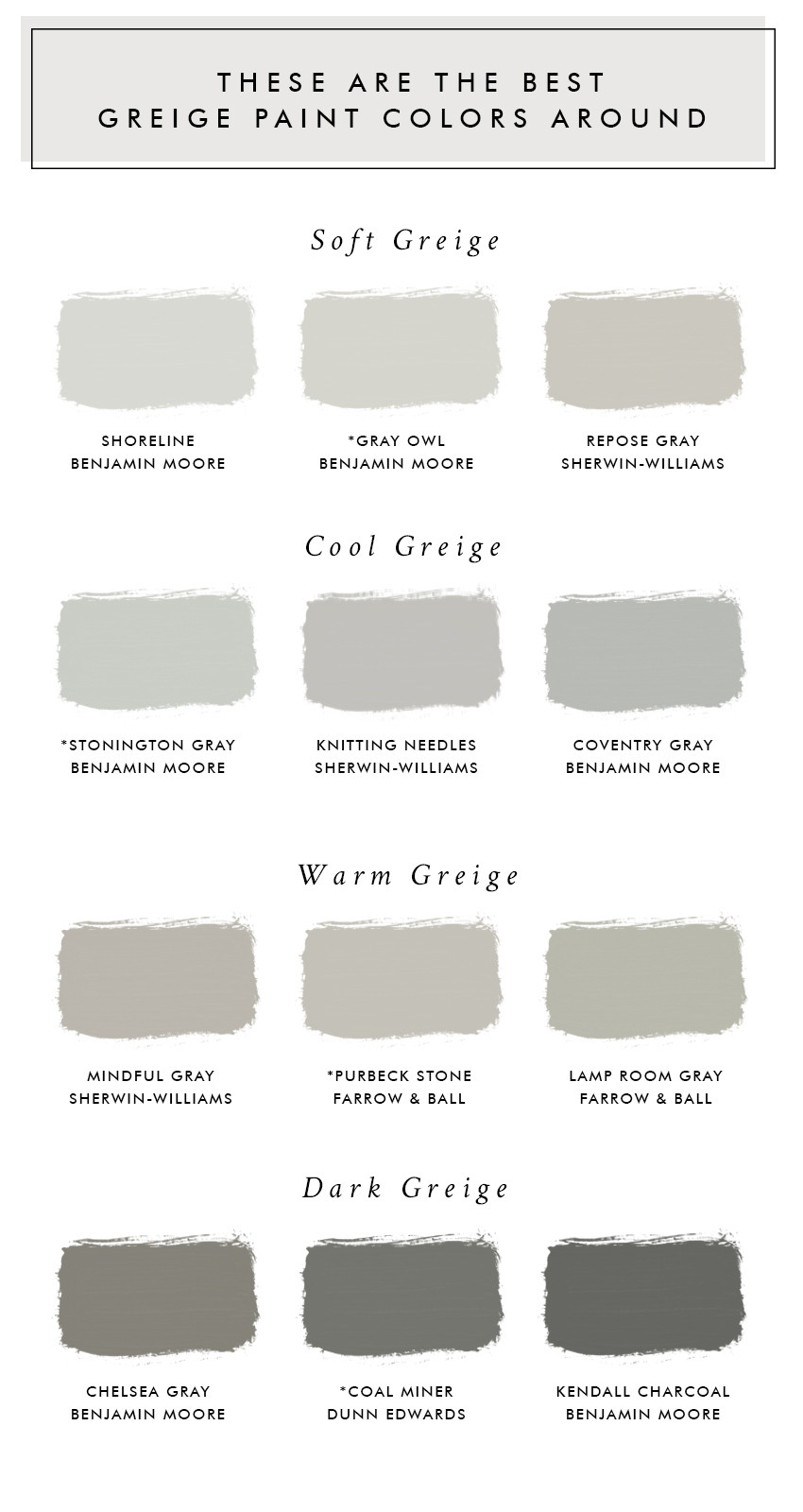 Best ideas about Greige Paint Colors . Save or Pin These Are The Best Greige Paint Colors Around Laurel Now.