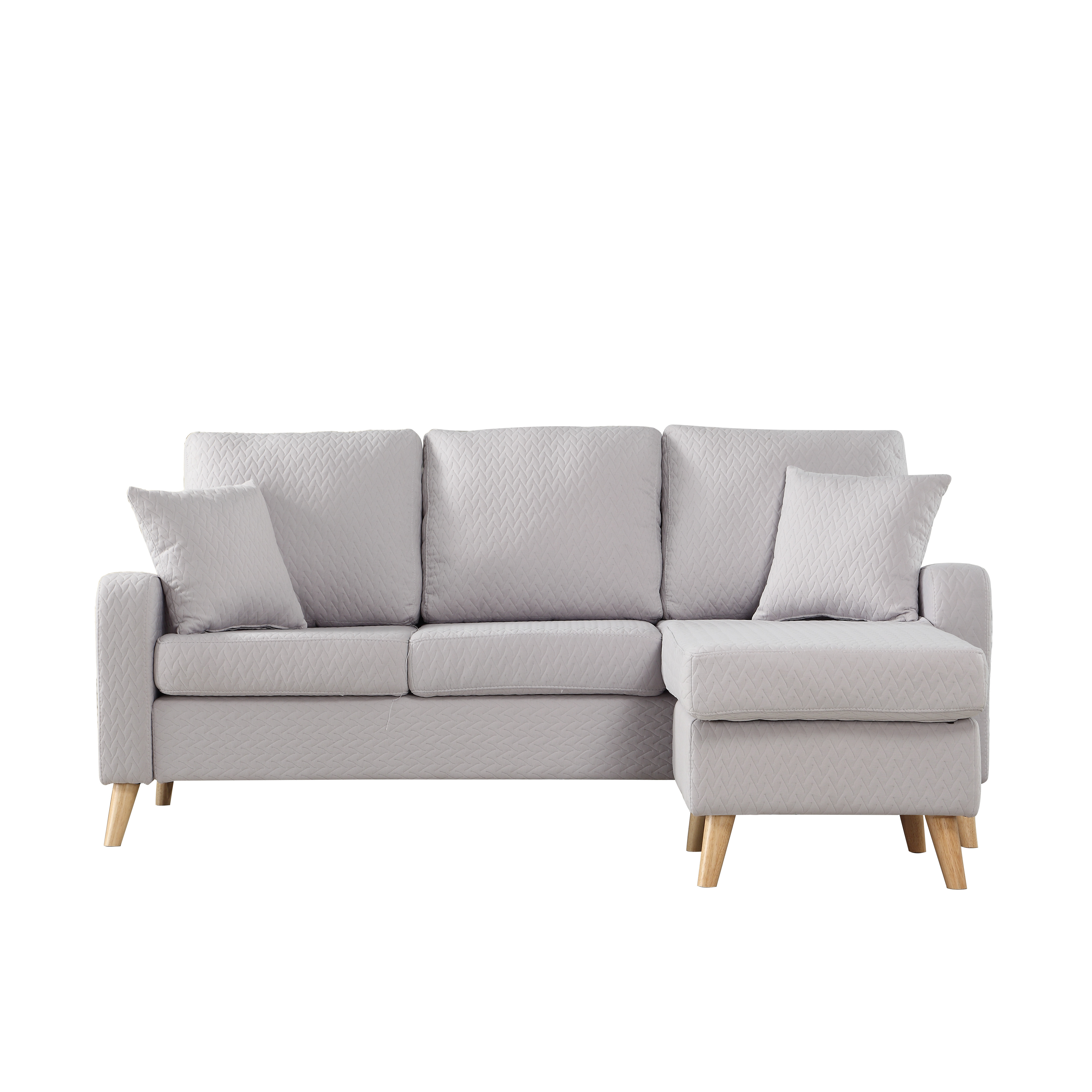 Best ideas about Grey Sectional Sofa With Chaise . Save or Pin Modern Fabric Small Space Sectional Sofa with Reversible Now.