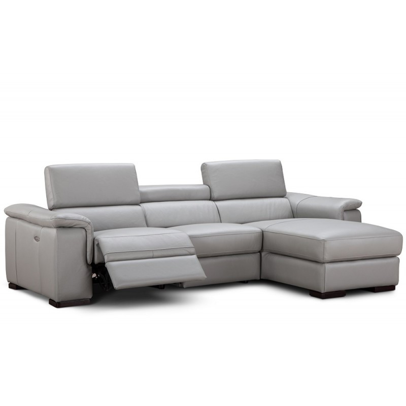 Best ideas about Grey Sectional Sofa With Chaise . Save or Pin Modern grey leather sectional with chaise Alba Now.