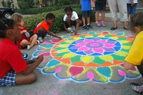Best ideas about Group Art Project For Kids . Save or Pin Kids Rangoli Art from india Now.