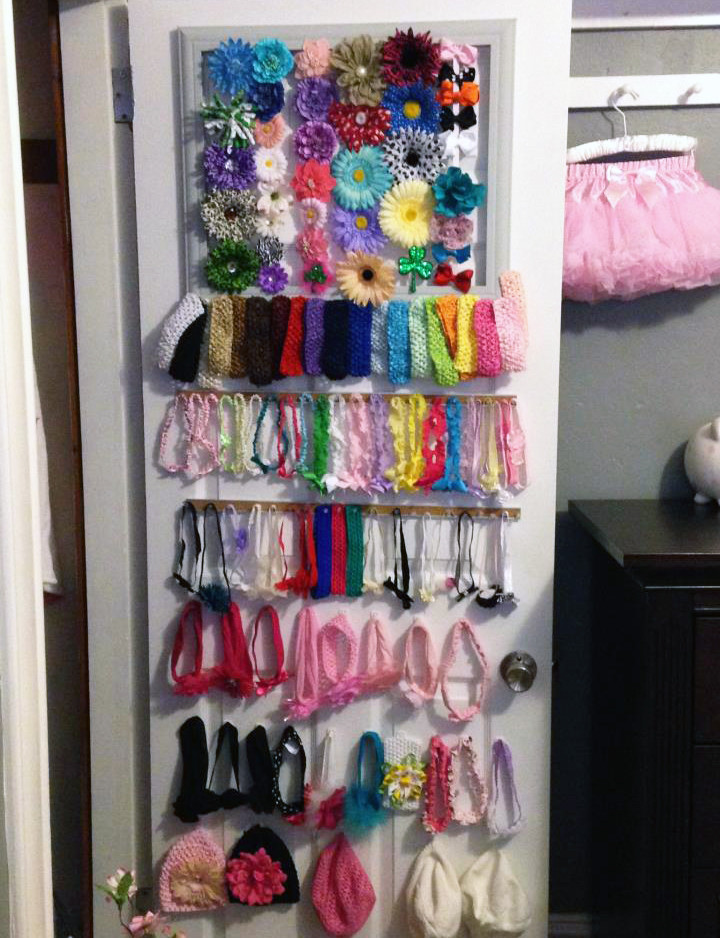 Best ideas about Hair Accessories Organizer DIY . Save or Pin Clever Baby Hair Bow Organization Project Nursery Now.