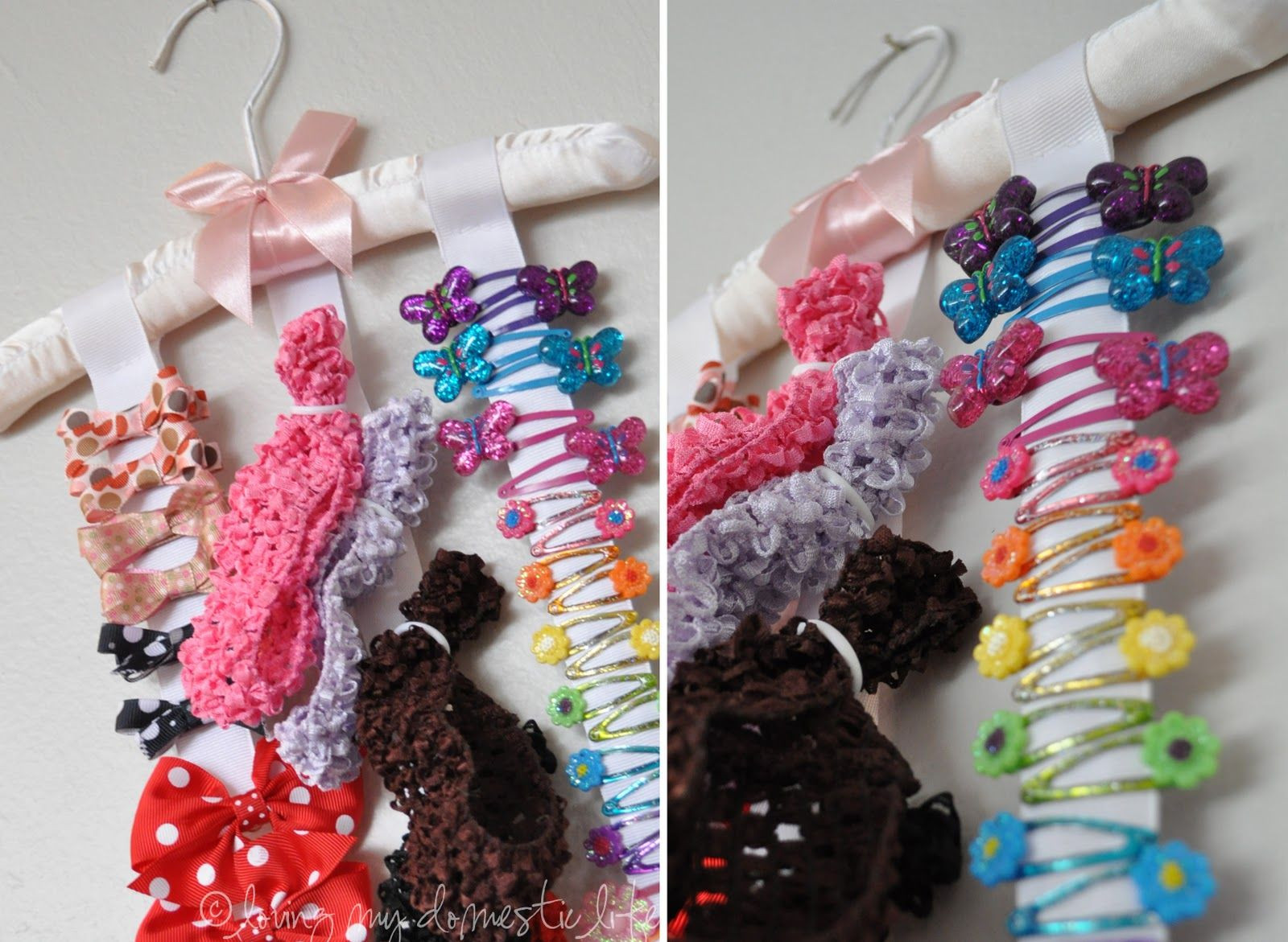 Best ideas about Hair Accessories Organizer DIY . Save or Pin Loving My Domestic Life Hair Accessory Organizer Now.