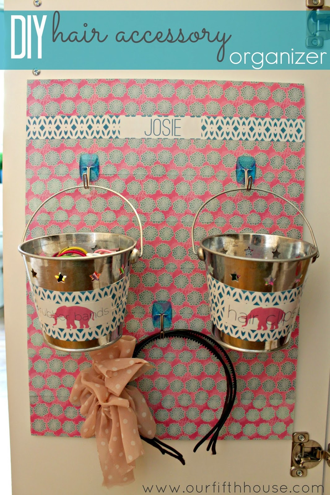 Best ideas about Hair Accessories Organizer DIY . Save or Pin Our Fifth House DIY Hair Accessory Organizer & A Lilly Now.
