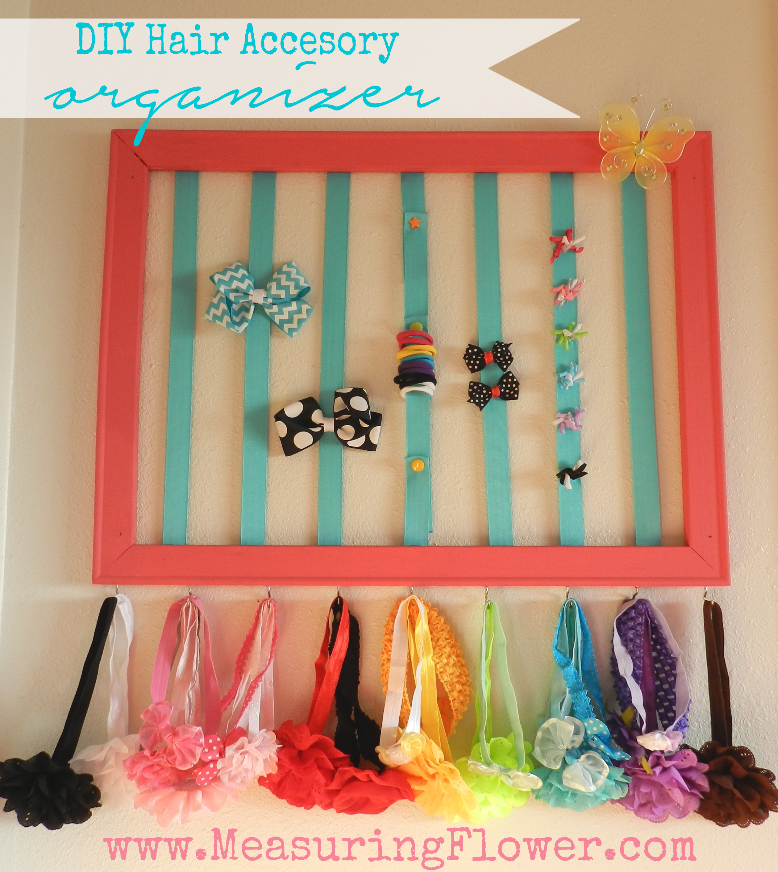 Best ideas about Hair Accessories Organizer DIY . Save or Pin DIY Hair Accessory Organizer for Baby and Little Girls Now.