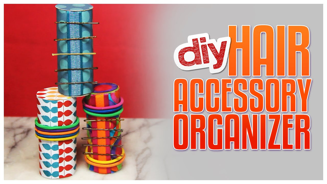 Best ideas about Hair Accessories Organizer DIY . Save or Pin DIY Hair Accessories Organizer Made From Paper Rolls Now.