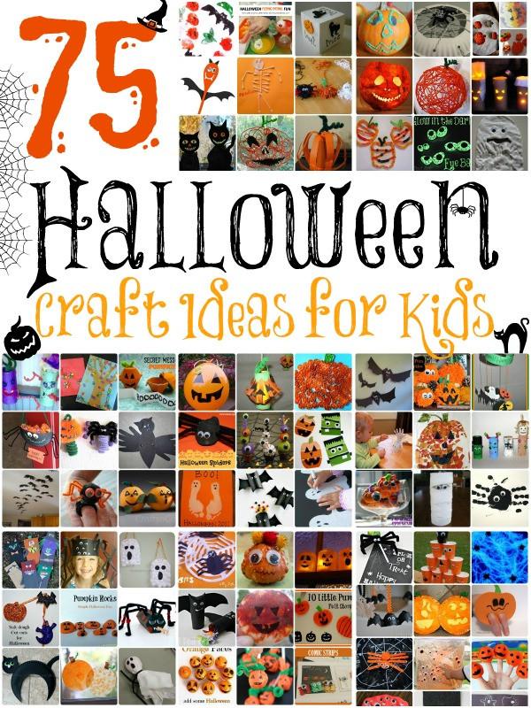 Best ideas about Halloween Craft Ideas For Kids . Save or Pin 75 Halloween Craft Ideas for Kids Now.