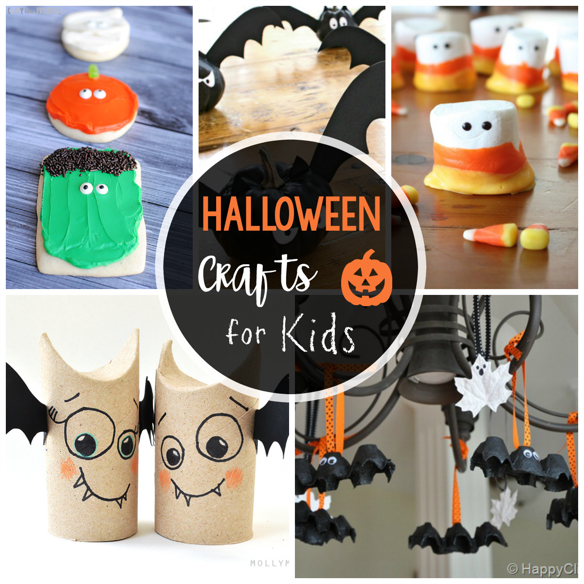 Best ideas about Halloween Craft Ideas For Kids . Save or Pin 25 Cute & Easy Halloween Crafts for Kids Crazy Little Now.
