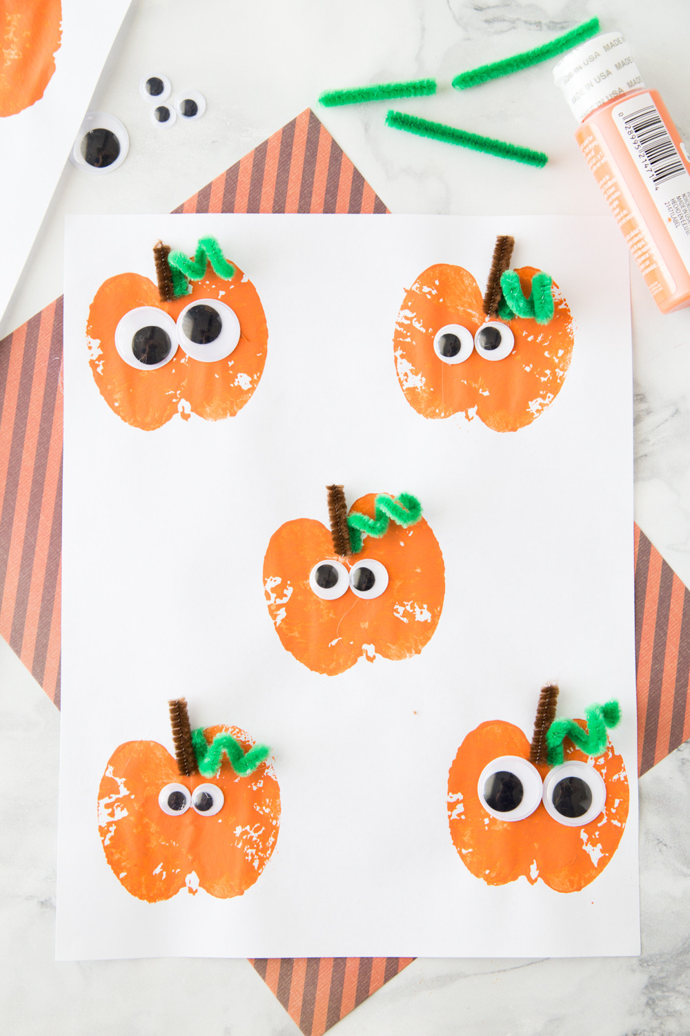 Best ideas about Halloween Craft Ideas For Kids . Save or Pin Apple Stamping Pumpkin Craft Made To Be A Momma Now.