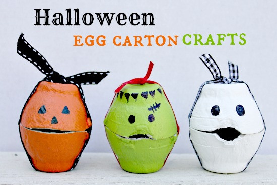Best ideas about Halloween Craft Ideas For Kids . Save or Pin Halloween Egg Carton Treat Boxes Now.