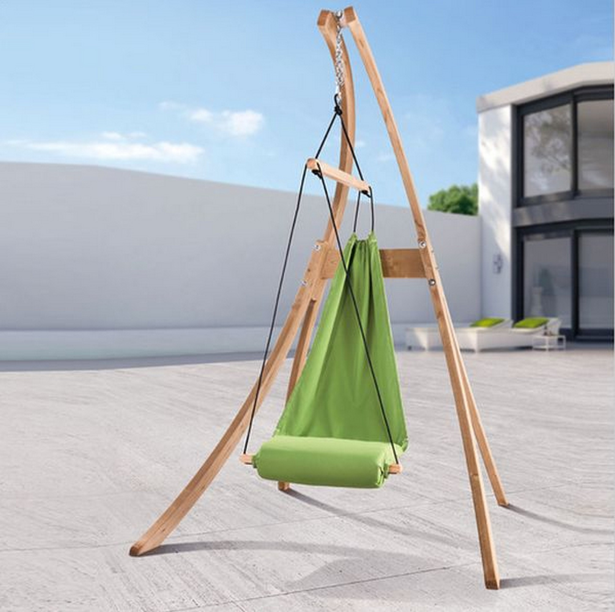 Best ideas about Hammock Chair Stand DIY . Save or Pin DIY Wood Hammock Chair Stand Now.
