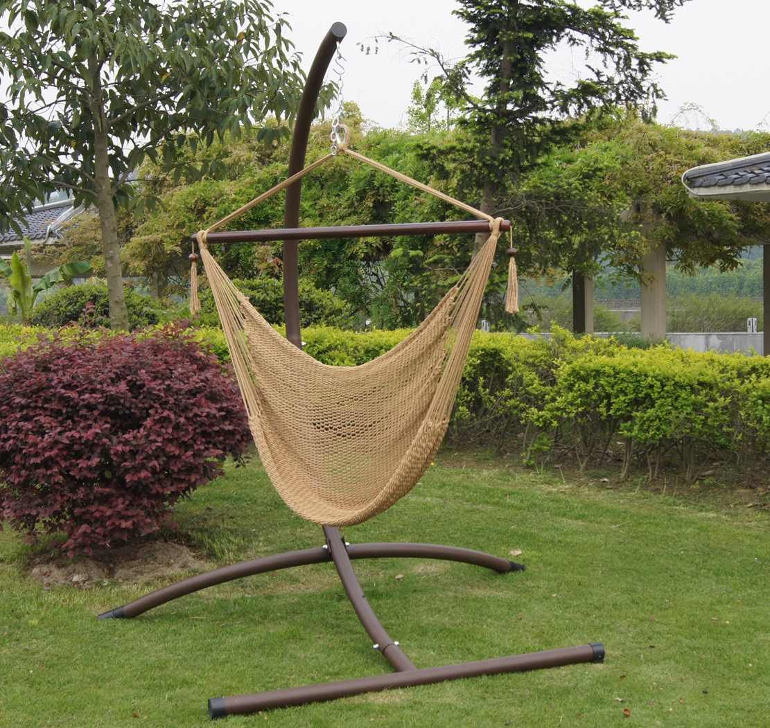 Best ideas about Hammock Chair Stand DIY . Save or Pin Great Hammock Chair Stand Diy in Taupe Hues Now.