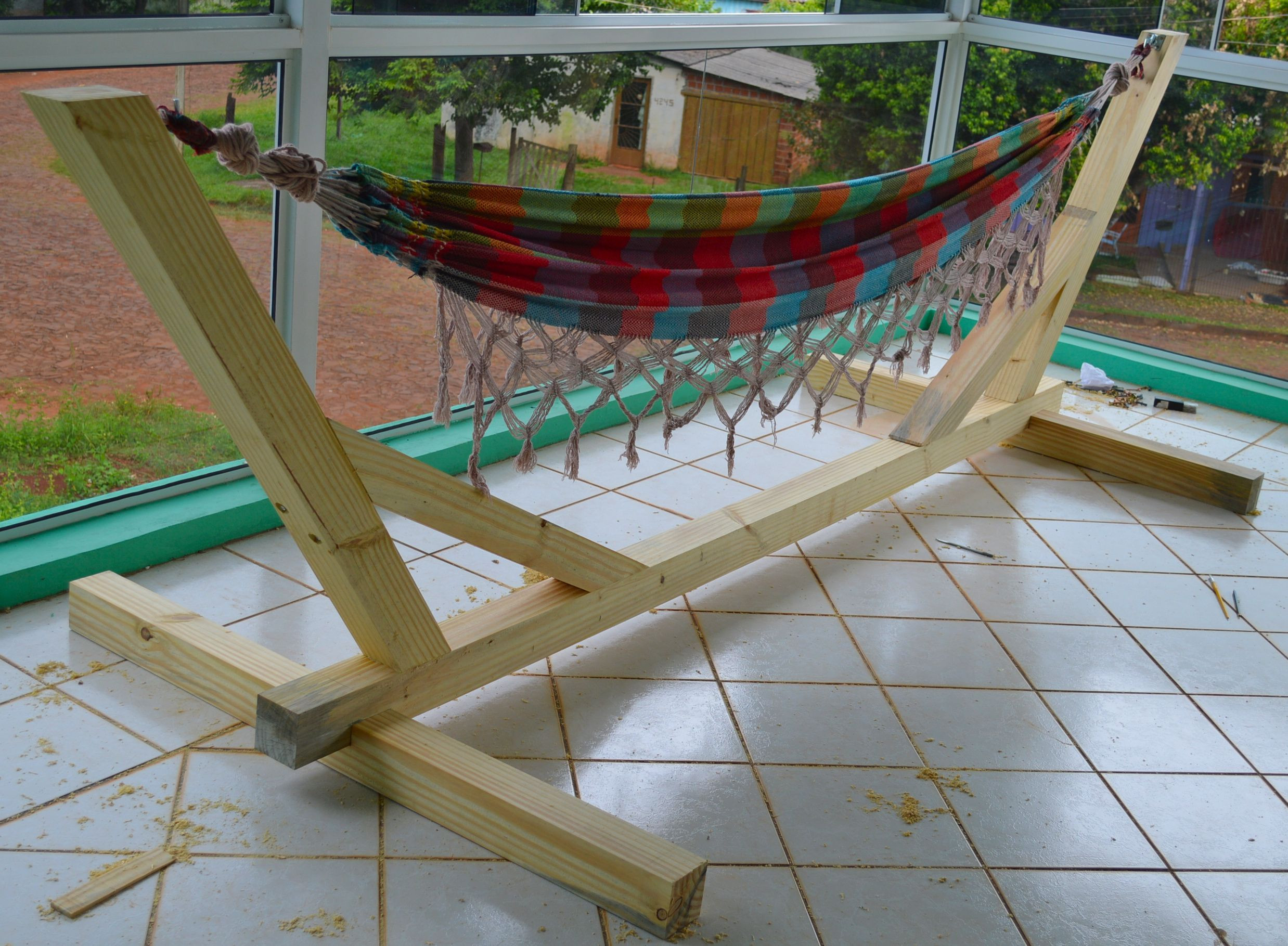 Best ideas about Hammock Chair Stand DIY . Save or Pin Image result for diy pvc pipe hammock stand Now.