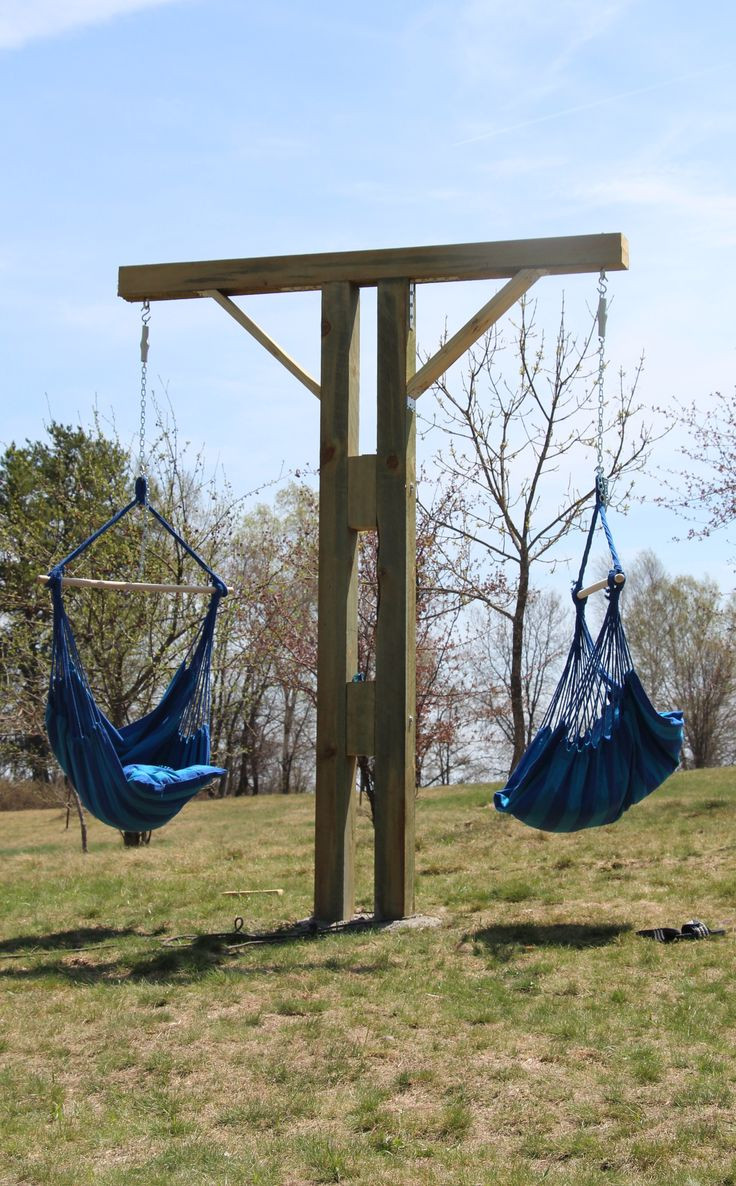 Best ideas about Hammock Chair Stand DIY . Save or Pin DIY Hammock Chair Stand gardenagerie Now.