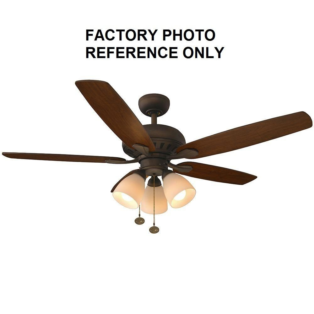 """Best ideas about Hampton Bay Lighting Replacement Parts . Save or Pin Hampton Bay Rockport 52"""" LED Oil Rubbed Bronze Ceiling Fan Now."""