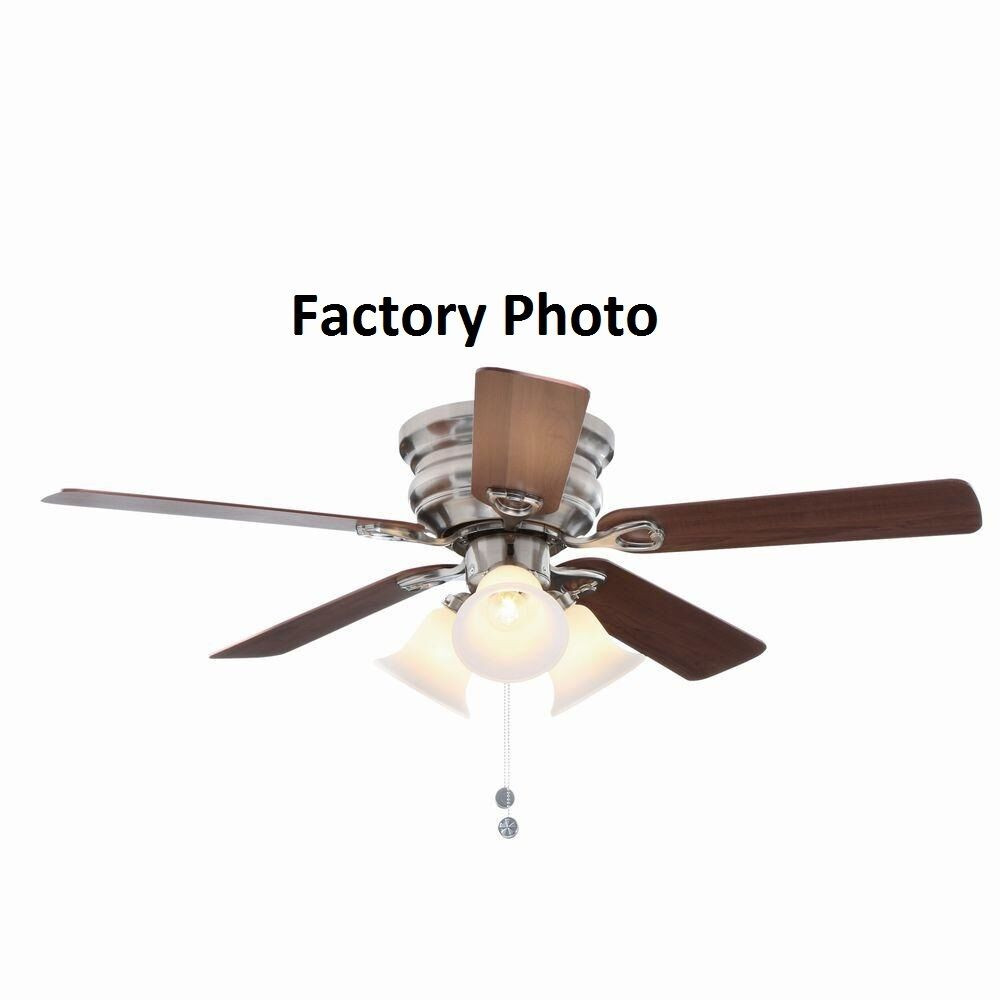 Best ideas about Hampton Bay Lighting Replacement Parts . Save or Pin Hampton Bay Carkston 44 in Brushed Nickel Ceiling Fan Now.