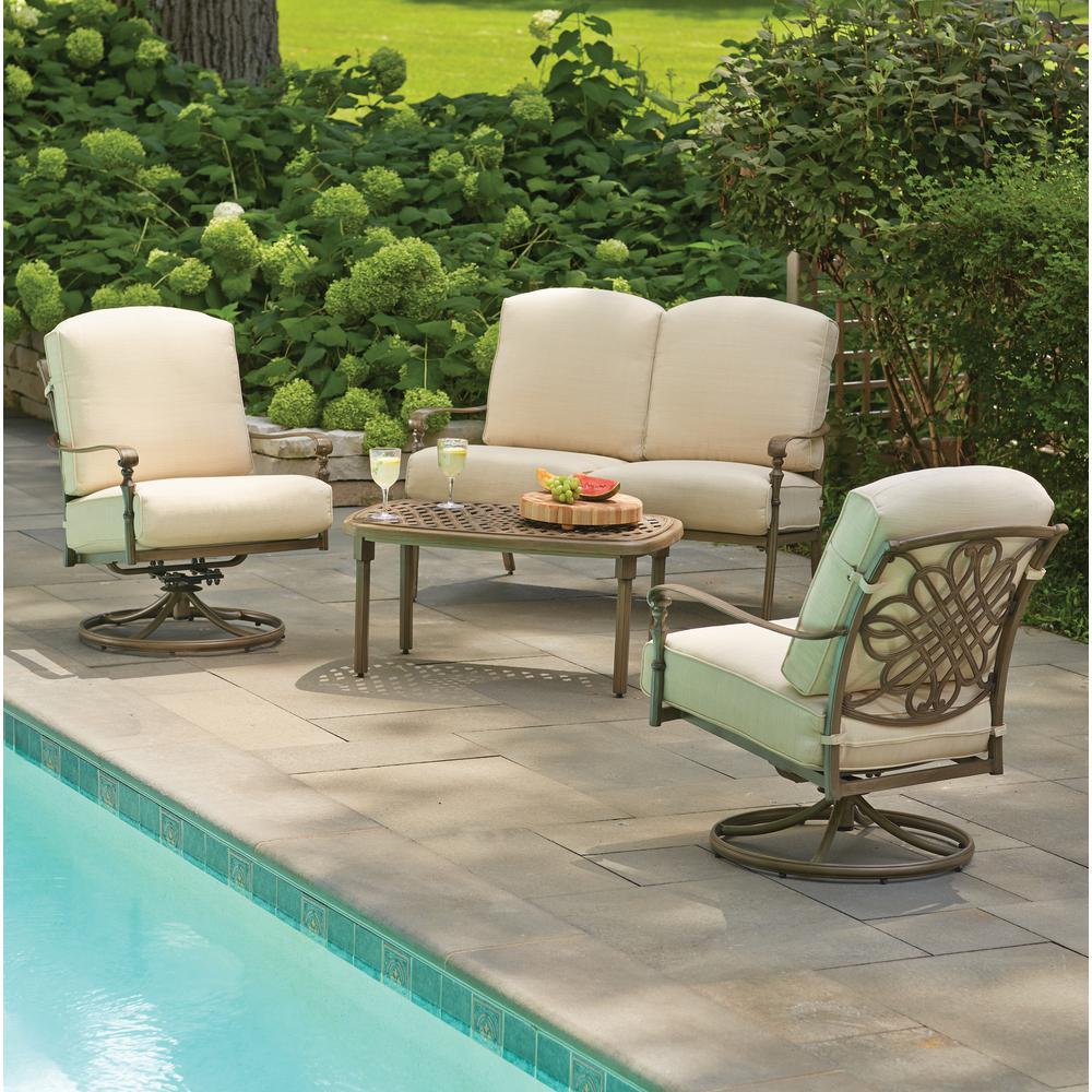 Best ideas about Hampton Bay Patio Cushions . Save or Pin Hampton Bay Cavasso 4 Piece Metal Outdoor Deep Seating Set Now.