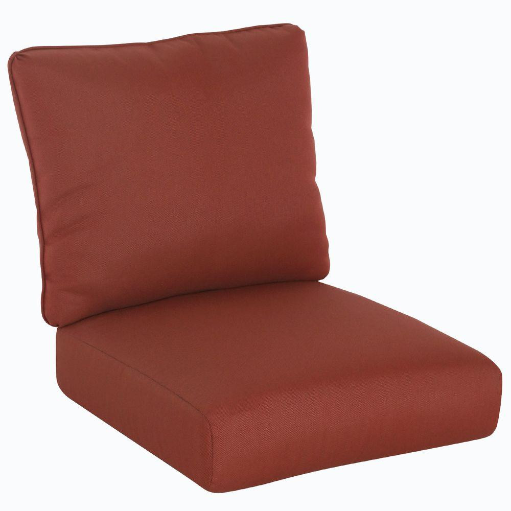 Best ideas about Hampton Bay Patio Cushions . Save or Pin Hampton Bay Tobago Burgundy Solid Replacement Seat and Now.