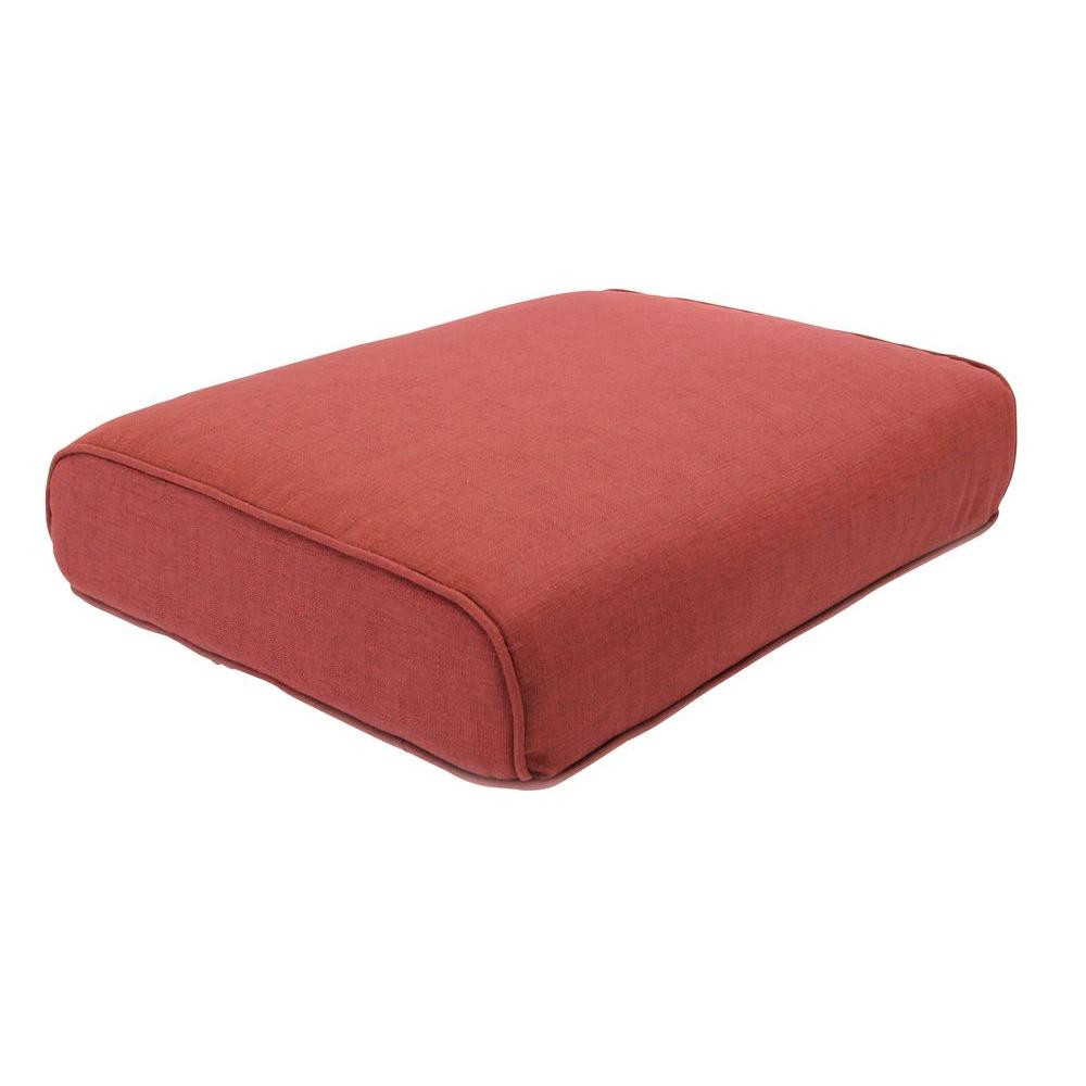 Best ideas about Hampton Bay Patio Cushions . Save or Pin Hampton Bay Fall River Chili Replacement Outdoor Ottoman Now.