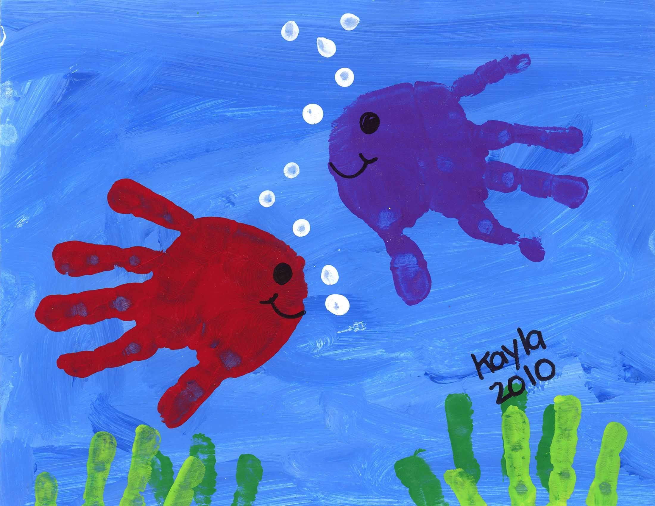 Best ideas about Hand Art For Kids . Save or Pin hand print fish Best Selling Artwork Now.