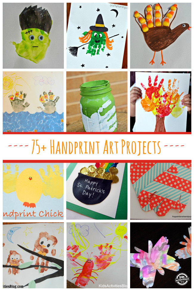 Best ideas about Hand Art For Kids . Save or Pin 75 Handprint Art Projects Now.
