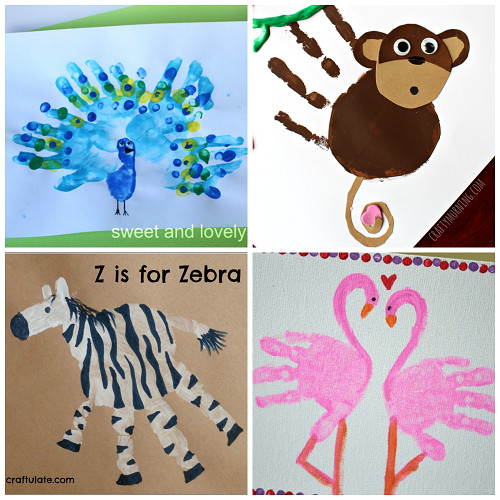 Best ideas about Hand Art For Kids . Save or Pin Fun Zoo Animal Handprint Crafts for Kids Crafty Morning Now.