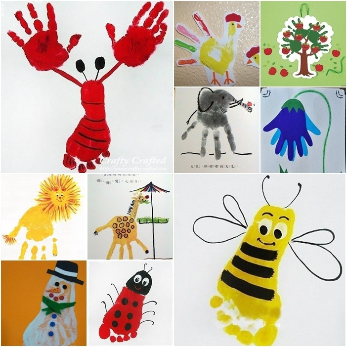 Best ideas about Hand Art For Kids . Save or Pin Art And Craft Printing Now.