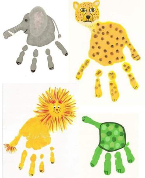 Best ideas about Hand Art For Kids . Save or Pin Fun and Easy Handprint Art Crafts for Kids Our Home Now.