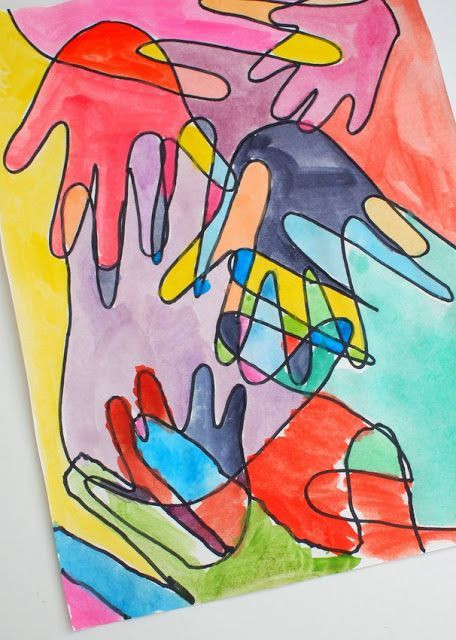Best ideas about Hand Art For Kids . Save or Pin Family Watercolor Hand print Art Now.