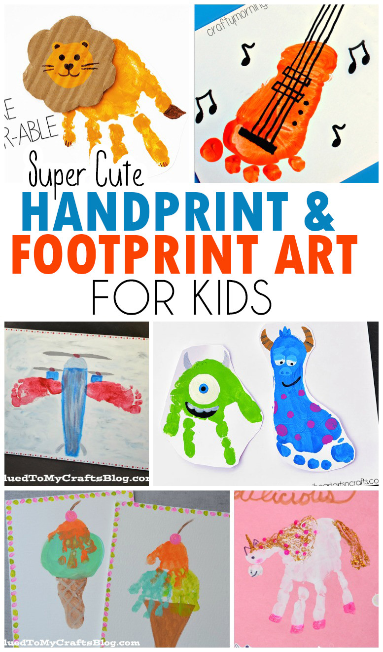 Best ideas about Hand Art For Kids . Save or Pin Handprint & Footprint Art for Kids Roundup Now.