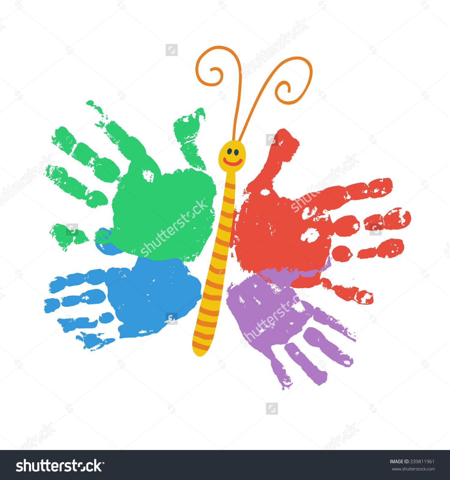 Best ideas about Hand Art For Kids . Save or Pin two kids handprint butterfly Google Search Now.