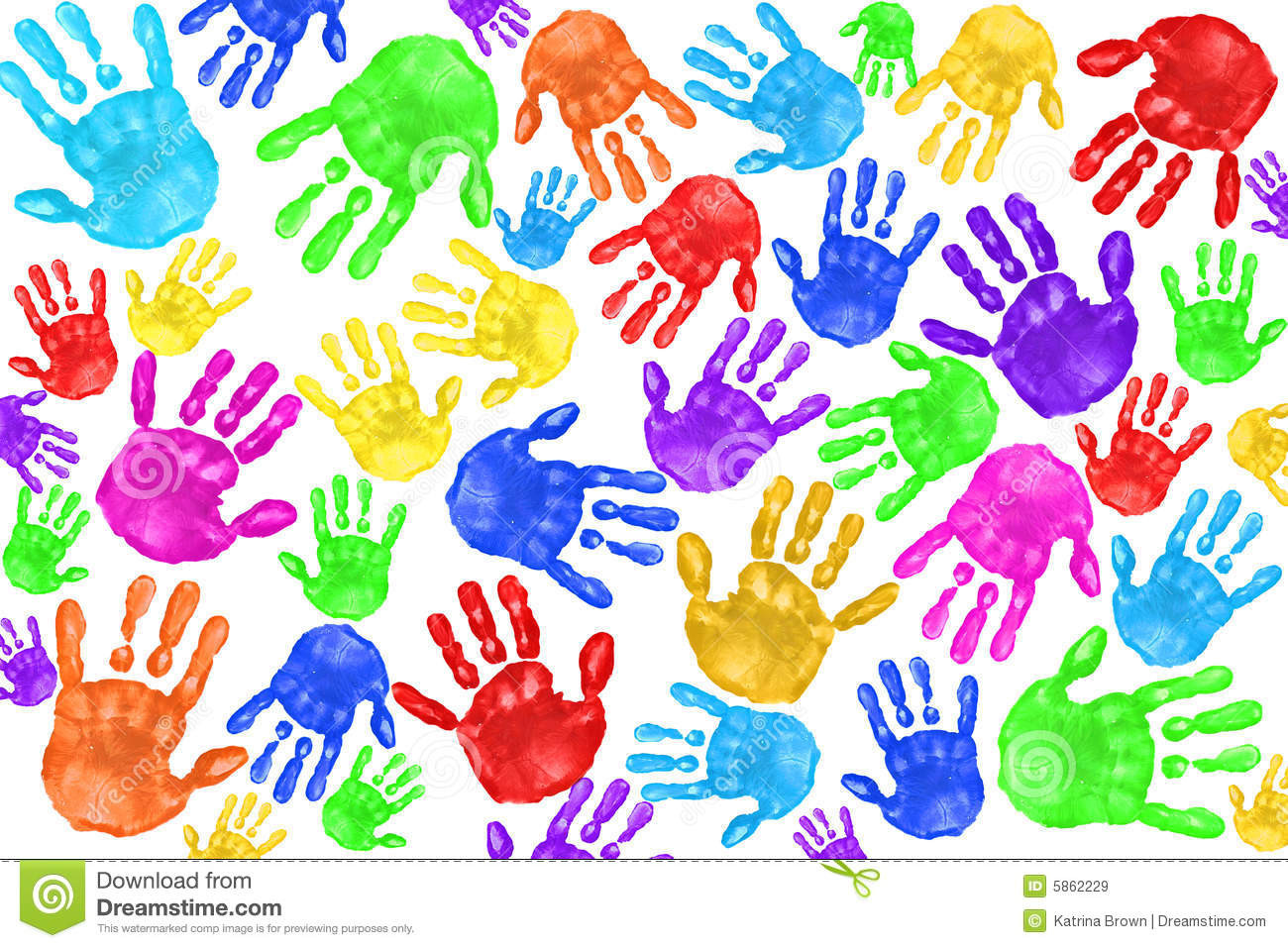 Best ideas about Hand Art For Kids . Save or Pin Handpainted Handprints Kids Stock Image Image of Now.