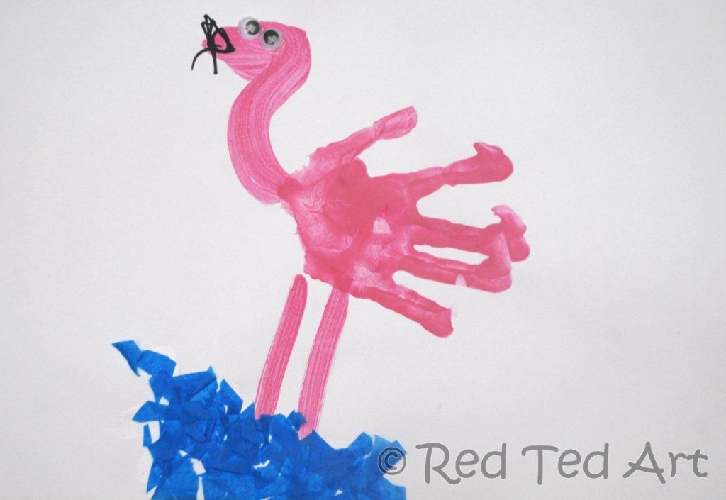 Best ideas about Handprint Crafts For Preschoolers . Save or Pin Handprint Alphabet F is for Flamingo Red Ted Art Now.
