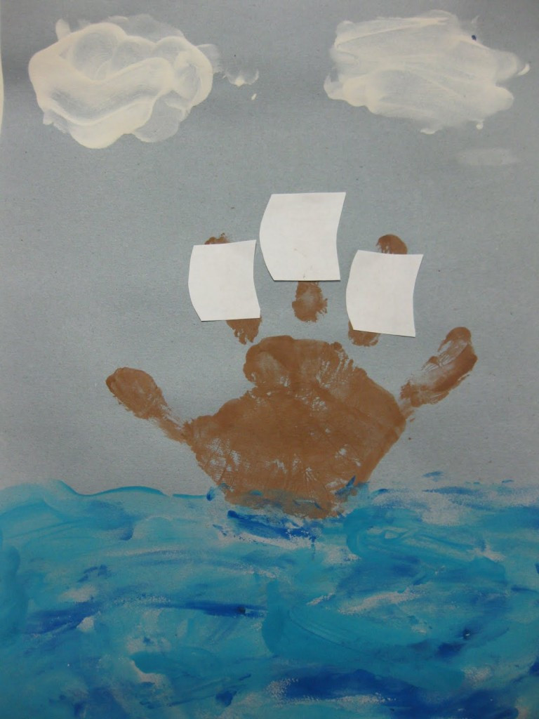 Best ideas about Handprint Crafts For Preschoolers . Save or Pin WW Mayflower Handprint Boat Now.
