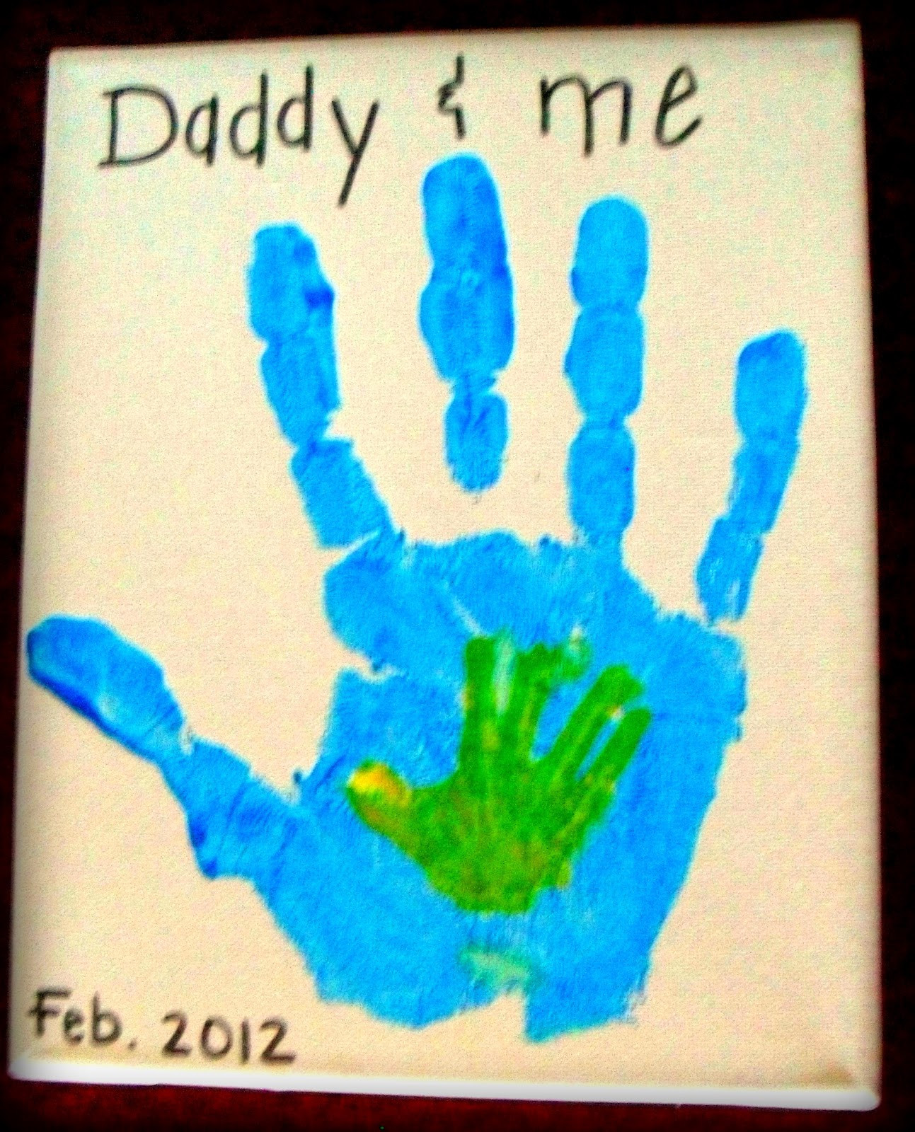 """Best ideas about Handprint Crafts For Preschoolers . Save or Pin Preschool Crafts for Kids Father s Day Handprint """"Daddy Now."""