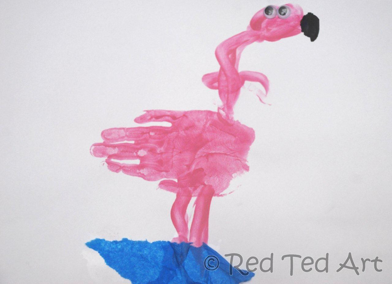 Best ideas about Handprint Crafts For Preschoolers . Save or Pin We Love Being Moms Letter F Flamingo Now.