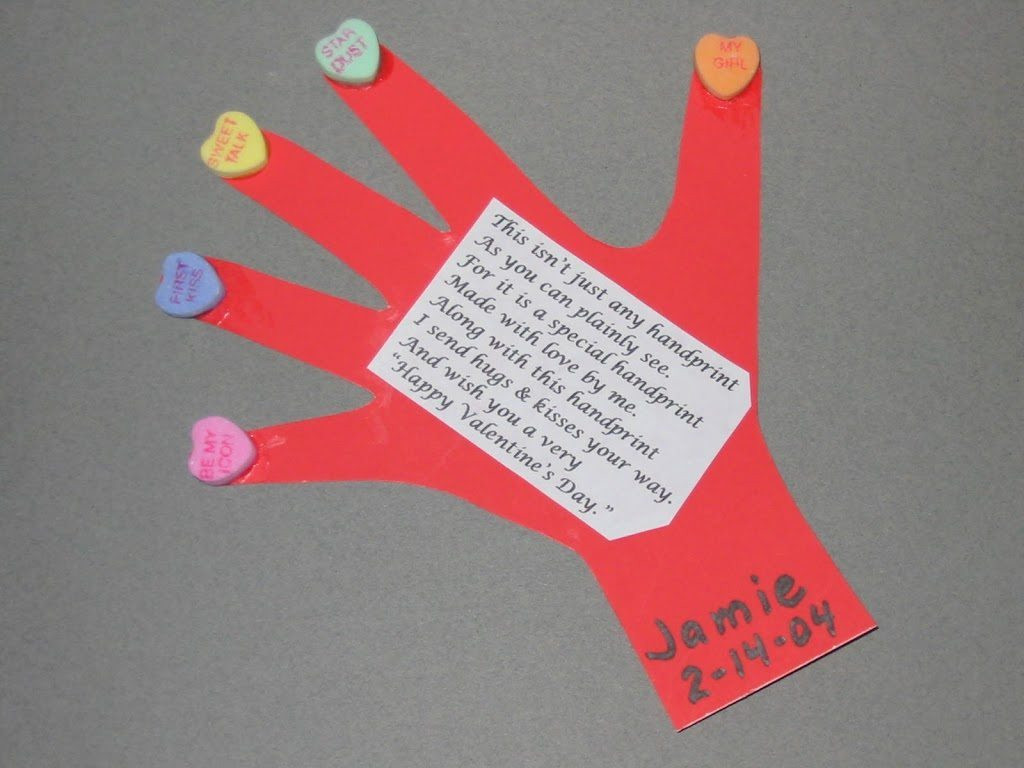 Best ideas about Handprint Crafts For Preschoolers . Save or Pin Handprint & Thumbprint Valentines Ideas Fun Handprint Art Now.