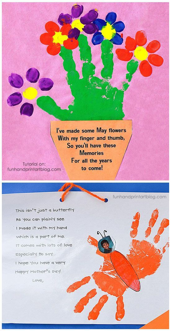Best ideas about Handprint Crafts For Preschoolers . Save or Pin Handprint and Fingerprint Flowerpot with Poem for Mother s Now.