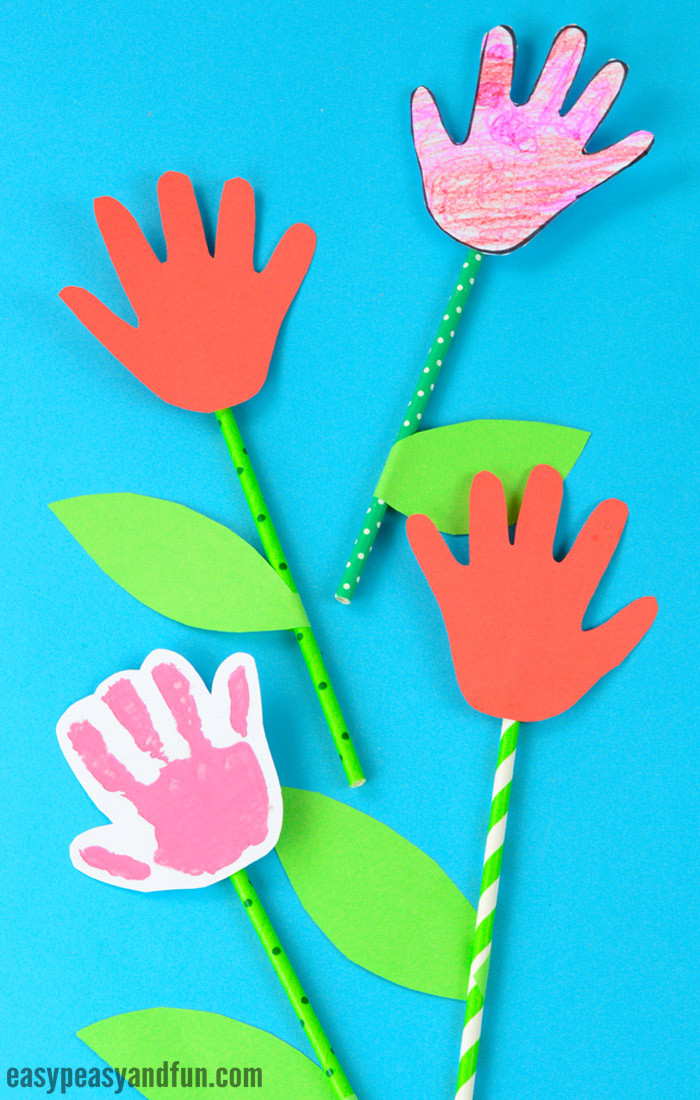 Best ideas about Hands On Crafts For Kids Com . Save or Pin Handprint Flower Craft Simple Art or Craft Project Now.
