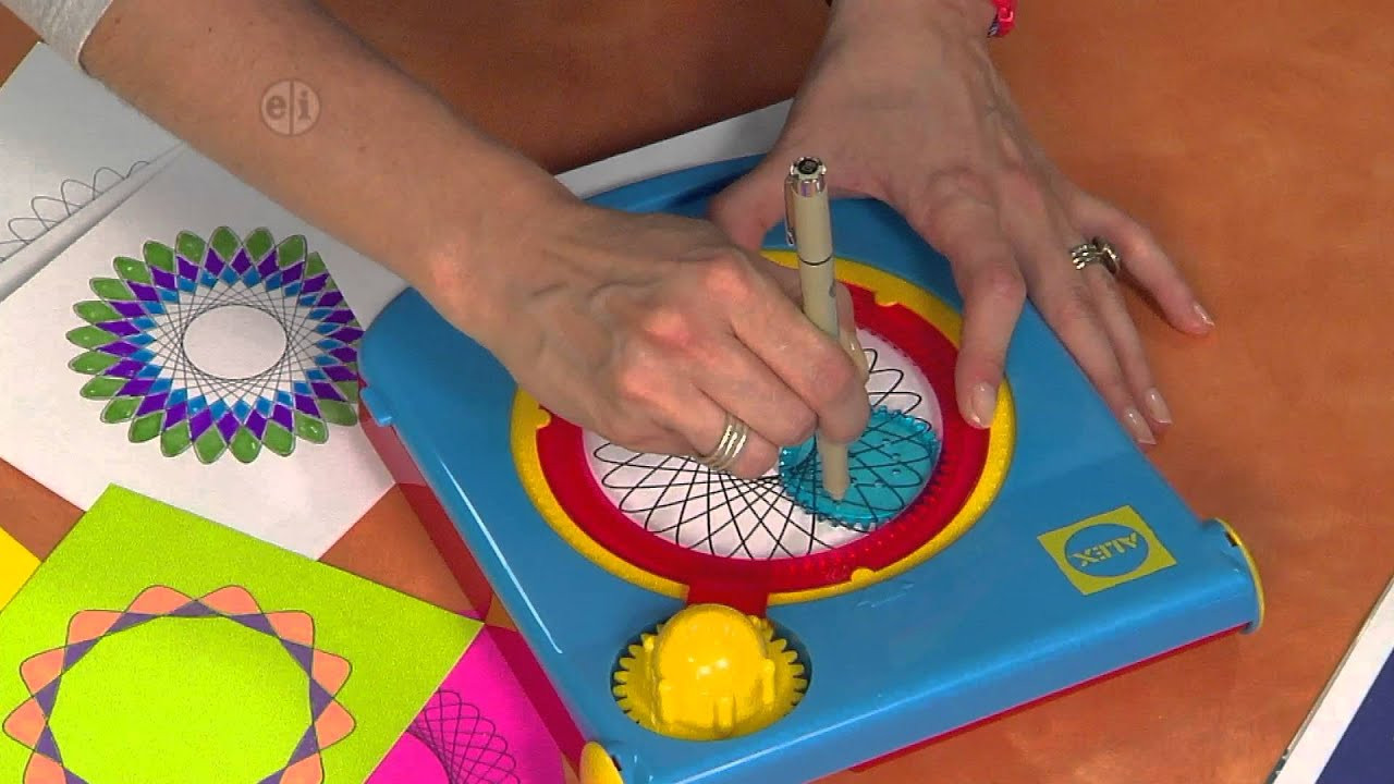 Best ideas about Hands On Crafts For Kids Com . Save or Pin Bright and Bold Spirograph Line Drawings Hands on Crafts Now.