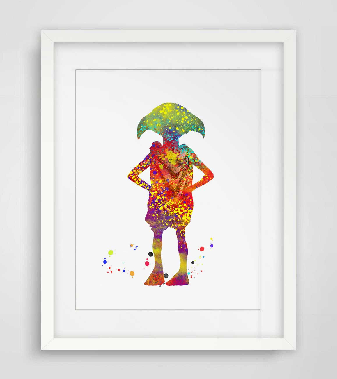 Best ideas about Harry Potter Wall Art . Save or Pin Aliexpress Buy Dobby Watercolor Wall Art Harry Now.