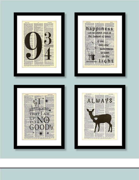 Best ideas about Harry Potter Wall Art . Save or Pin 25 best ideas about Harry Potter Bedroom on Pinterest Now.