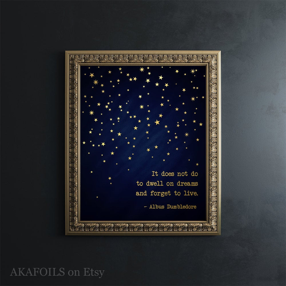 Best ideas about Harry Potter Wall Art . Save or Pin Harry Potter Wall Art Gold Foil Print Harry Potter Quote Now.